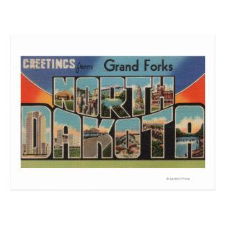 Grand Forks, Dakota del Norte - letra grande Postales