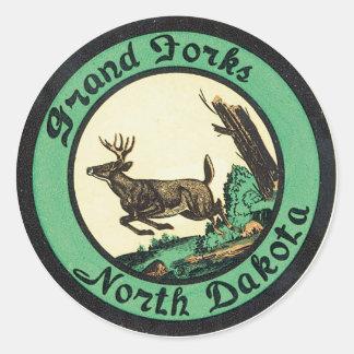 Grand Forks North Dakota Label