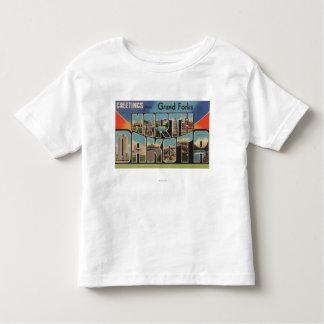 Grand Forks, North Dakota - Large Letter Toddler T-shirt