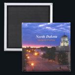 "Grand Forks North Dakota Magnet Travel Souvenir<br><div class=""desc"">Refrigerator magnets picture a nighttime scene in Grand Forks,  North Dakota,  USA.</div>"