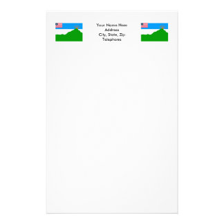 Grand Gedeh County Flag Stationery Design