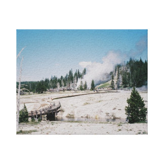 Grand Geyser Stretched Canvas Print