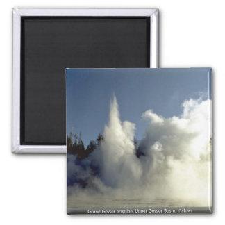 Grand Geyser eruption, Upper Geyser Basin, Yellows Magnets