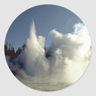Grand Geyser eruption, Upper Geyser Basin, Yellows Stickers