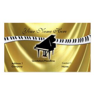 Grand Gold Piano and Keyboard Business Card