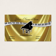 Grand Gold Piano And Keyboard Business Card at Zazzle