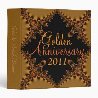 Grand Golden Wedding Anniversary on Black Binder