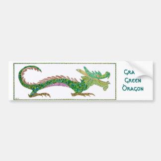 Grand Green Dragon Bumper Sticker Car Bumper Sticker