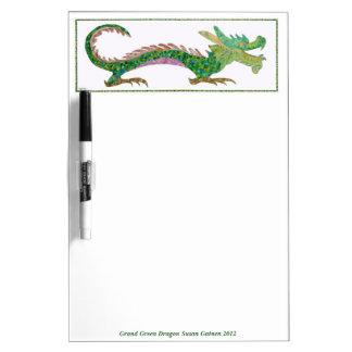 Grand Green Dragon Dry Erase Board