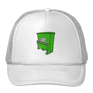 grand green upright piano with music.png trucker hat