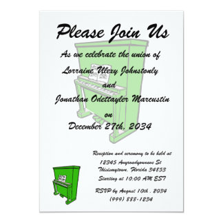 grand green upright piano with music.png 5x7 paper invitation card