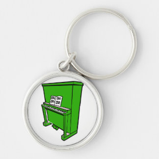 grand green upright piano with music.png keychain