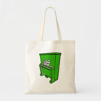 grand green upright piano with music.png tote bag