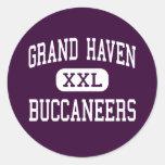 Grand Haven - Buccaneers - High - Grand Haven Round Sticker