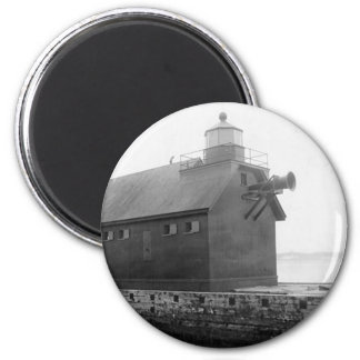 Grand Haven Lighthouse 2 2 Inch Round Magnet