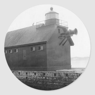 Grand Haven Lighthouse 2 Classic Round Sticker