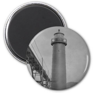 Grand Haven Lighthouse 2 Inch Round Magnet