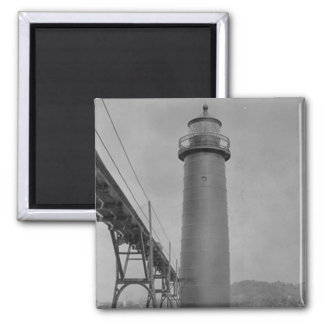 Grand Haven Lighthouse 2 Inch Square Magnet