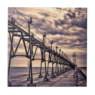 Grand Haven lighthouse and pier, Grand Haven Ceramic Tile