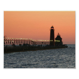 Grand Haven Lighthouse at Sunset Posters