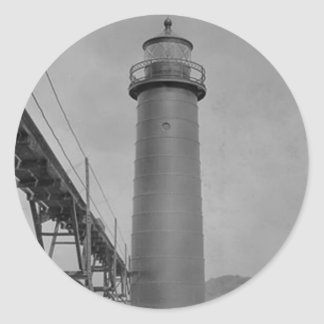 Grand Haven Lighthouse Classic Round Sticker