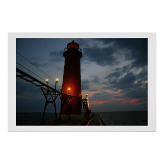 Grand Haven Lighthouse @ ISO1600 Poster