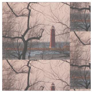 Grand Haven Lighthouse - Michigan Fabric