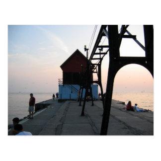 Grand Haven lighthouse Postcard