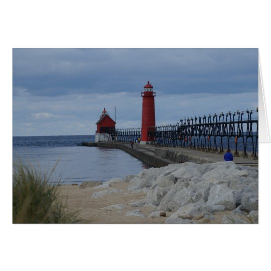 Grand Haven Lighthouses Card