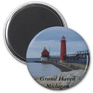 Grand Haven Lighthouses Fridge Magnets