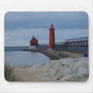Grand Haven Lighthouses Mouse Pad