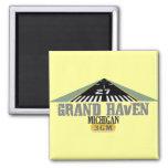 Grand Haven MI - Airport Runway Fridge Magnets