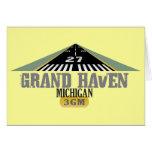 Grand Haven MI - Airport Runway Greeting Cards