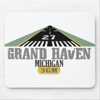 Grand Haven MI - Airport Runway Mouse Pad