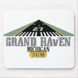 Grand Haven MI - Airport Runway Mousepad