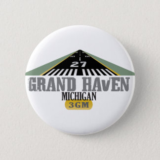 Grand Haven MI - Airport Runway Pinback Button