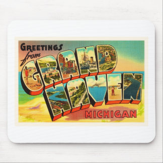 Grand Haven Michigan MI Vintage Travel Souvenir Mouse Pad