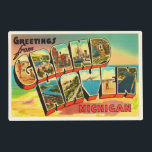 "Grand Haven Michigan MI Vintage Travel Souvenir Placemat<br><div class=""desc"">Grand Haven,  Michigan MI