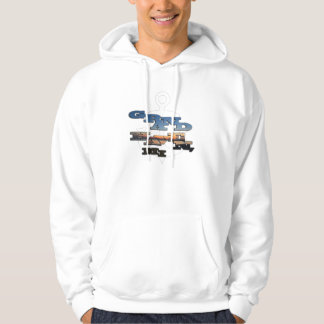 Grand Haven Photo Text with Anchor behind Hoodie