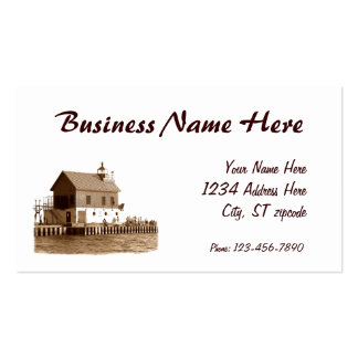 grand haven pier, Business Name Here, Your Name... Double-Sided Standard Business Cards (Pack Of 100)