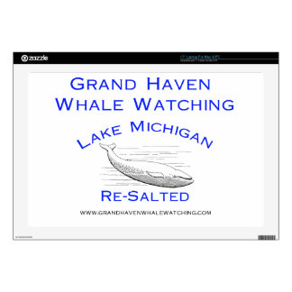 "Grand Haven Whale Watching Gear 17"" Laptop Skin"