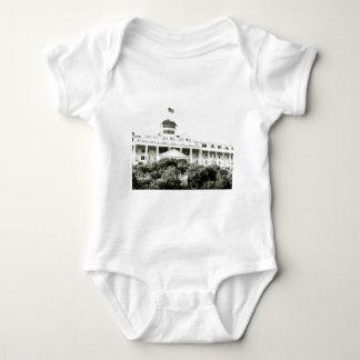 Grand Hotel, Mackinac Island, black and white Infant Creeper