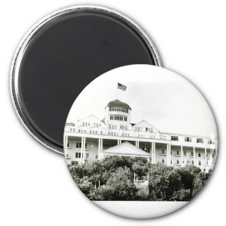 Grand Hotel, Mackinac Island, black and white Magnet