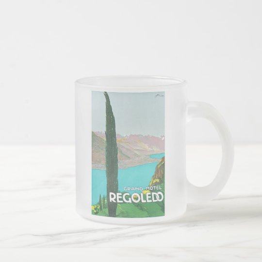 Grand Hotel Regoledo Frosted Glass Coffee Mug