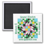 Grand Illusion Magnet<br><div class='desc'>Decorate your fridge to match your quilt.  Or use it at your sewing machine to catch pins.  :)</div>