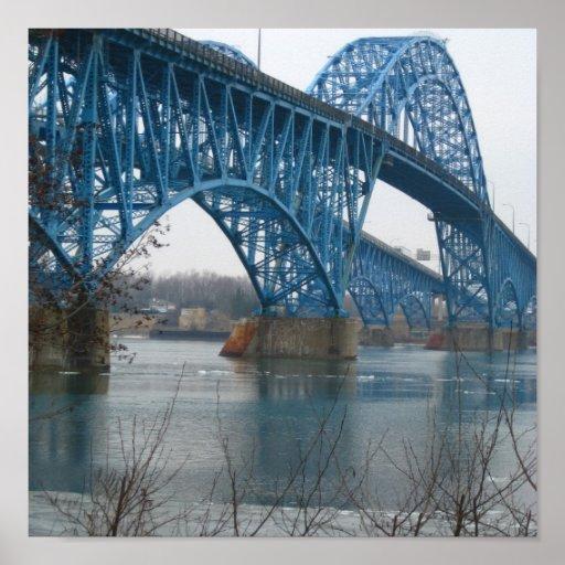 Grand Island bridge Poster