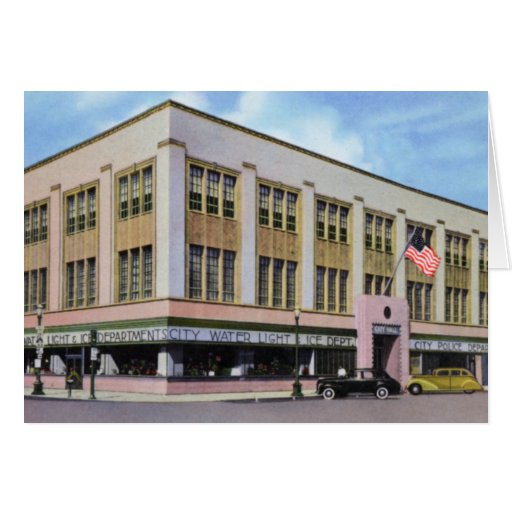Grand Island Nebraska City Hall Card