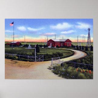 Grand Island Nebraska FCC Central Monitor Station Poster