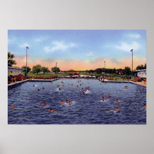 Grand Island Nebraska Municipal Swimming Pool Poster