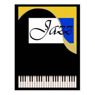 Grand Jazz Piano Postcard